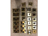 13A Brass Georgian style sockets and switches