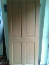 4x solid heavy pine doors