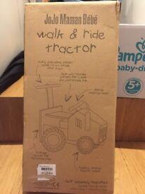 Jojo Mamam Bebe walk & ride tractor brand new