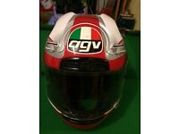 Mans XL AGV motorbike helmet
