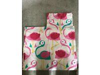 Next flamingo toddler bed bedding