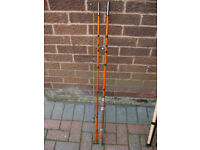 Vintage fishing rod. 10.5 foot, 3 piece, whole cane & fibreglass, coarse rod.