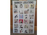 Banksy Locatios Canvas Print