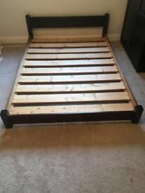 Solid bed frame