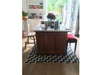 Amazing repurposed antique desk/bookcase