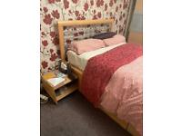 Free Double Bed Frame with Mattress
