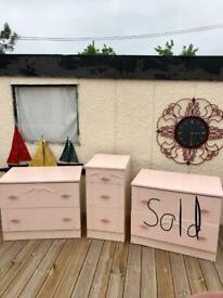 Pink drawers been painted one sold