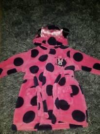 Disney minnie mouse dressing gown/bathrobe