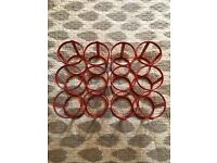 Red habitat wine rack metal powder coated