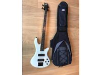 Schecter bass guitar (with soft Westfield case)