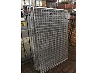 """clearance job lot 10 3ft x 53"""" heavy duty shop display gridwall used"""