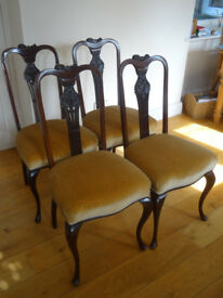Set of 4 mahogany chairs