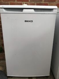 White Beko undercounter fridge