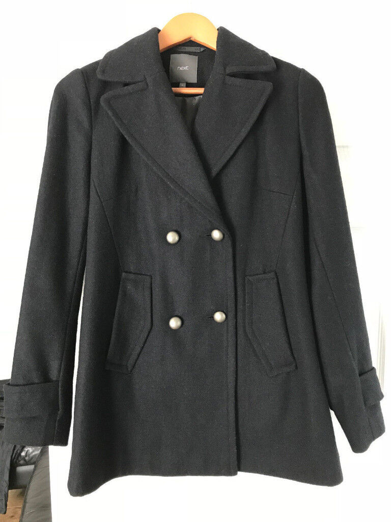 WOMAN'S BLACK WOOL COAT SIZE 8 FROM NEXT