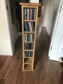 Oak CD storage tower