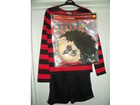 Dennis the Menace fancy dress 9-10yrs World Book Day Costume New with Tags