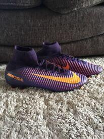 Nike Mercurial sock football boots size 9