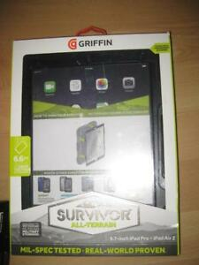 "Griffin Survivor Apple iPad Air 2/ iPad Pro 9.7"" Rugged Case / Cover. Shock Proof. Water Proof. Screen Protector. Tablet"