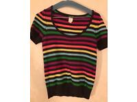 Sonia Rykiel Cotton Multi Coloured Top size s