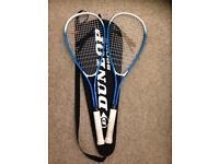 2x squash rackets+bag+ball