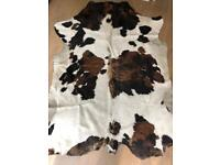 Real leather cow hide rug