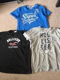 Mens t-shirt bundle of Superdry and Hollister