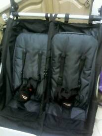 Mountain buggy duet double with carrycots and extras...