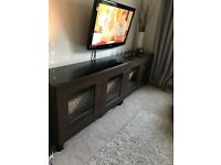 Ikea besta tv units / sideboard with glass tops
