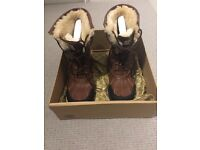 Ugg men's boots with sheepskin lining, size 10, brown