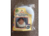 Baby reversible neck roll NEW IN PACKAGING
