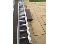 14ft triple aluminium ladders