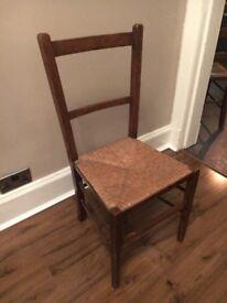 Antique Rattan Farm Chair