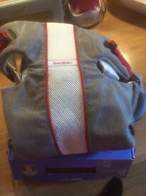 REDUCED! Baby Bjorn Air Grey, Red, White mesh