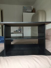 Black tv stand in good condition