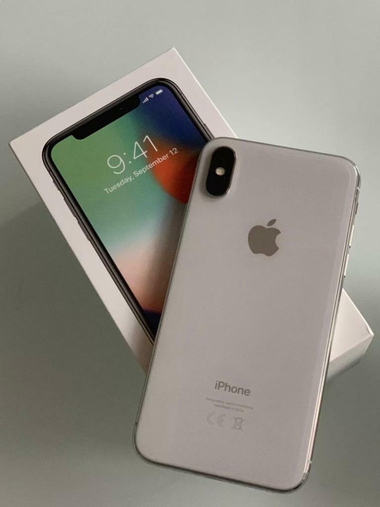 Apple iPhone X 10. 64gb Silver Smartphone. Immaculate ...