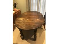 A Mid Victorian Oak Joseph Fitter Oval/Round Extending Dining Table