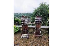 5 Victorian chimney pots