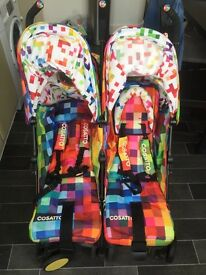Cosatto Supa Dupa Double Stroller - Pixelate