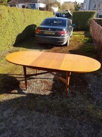 Beithcraft 1960s teak dining table