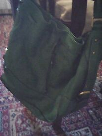 REDUCED green leather bag as new