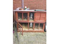 5ft double rabbit hutch with thermal cover