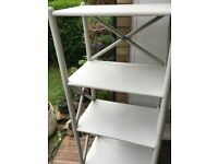 Rattan book shelf off white and grey H 140 x W 63 x D 41