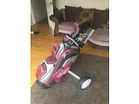Bay Hill Golf Clubs inc bag, caddie and accesories
