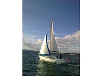 1976 Jaguar 27 Fin keel yacht including Darglow feathering prop for sale