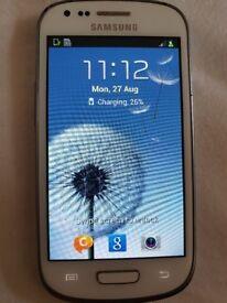 White Samsung Galaxy S3 Mini (unlocked)