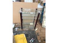 Glass table storage furniture