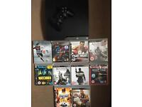 Ps3 Slim Bundle with 10 games