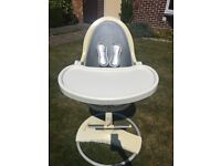 Bloom fresco baby high chair with silver inset in very good condition