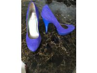 Blue platform heel by Rachel Roy UK size 7