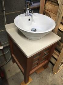 Sink tap and vanity unit